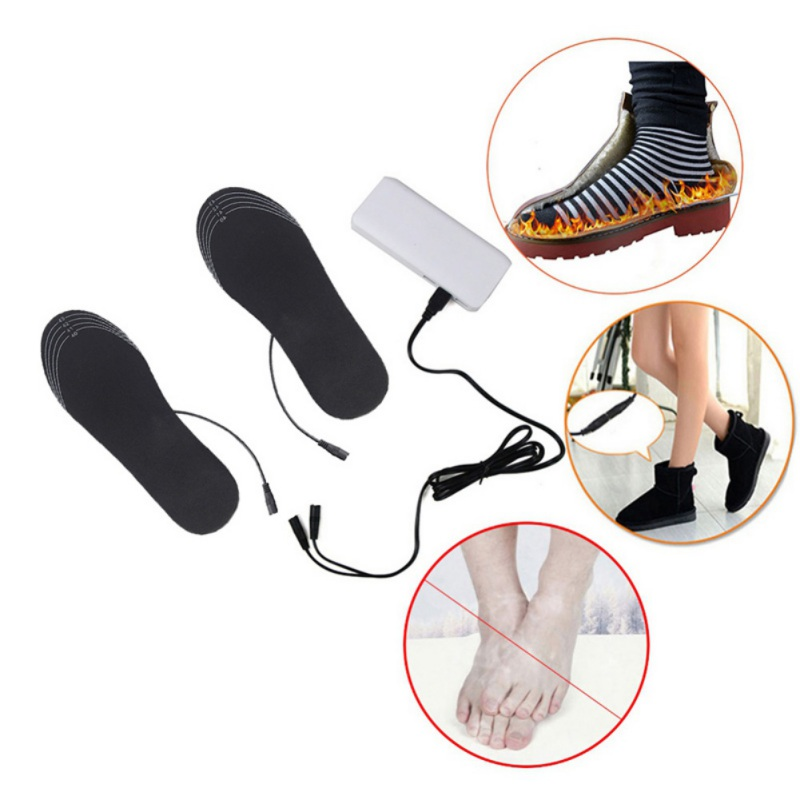 Electric Heated Insoles USB Rechargeable Washable Cuttable Feet Warming Insoles Soft Insert Pad Foot Warmer Care For Winter1Pair