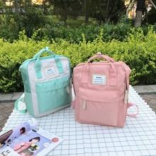 2020 novo saco de moda feminina mochila à prova dwaterproof água lona viagem portátil mochila feminina para adolescentes bolsa de ombro bagpack