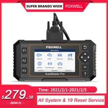 Foxwell NT644 Elite Scanner professionnel de voiture, outil de Diagnostic de voiture, système complet, 19 services de réinitialisation, câble OBD2