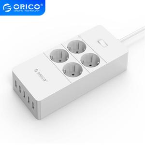 Image 1 - ORICO Surge Protection USB Charger Home appliances 4 AC EU Power Strip1.5 Meter Power Cord with 5 Port USB Charging Station