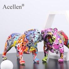 Creative Colorful Bulldog Figurines Home Decor Modern Art Home Decorations Room Bookshelf TV Cabinet Decor Animal Ornament