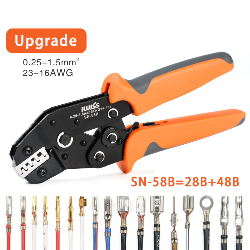 Dupont Crimping Tool Multi-function Crimping Pliers Set Dupont Crimp Tool Clamp Kit With Five Kinds Of Terminals Set