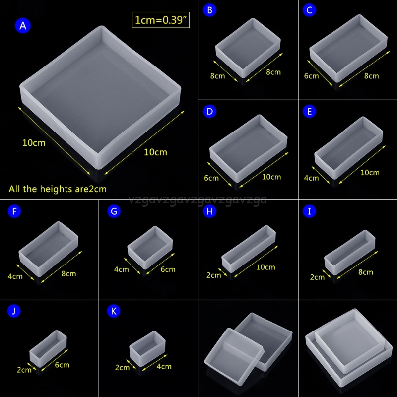 Silicone Mold DIY Square Rectangle Exopy Resin Mirror Crafts Jewelry Decoration N20 19 Dropship