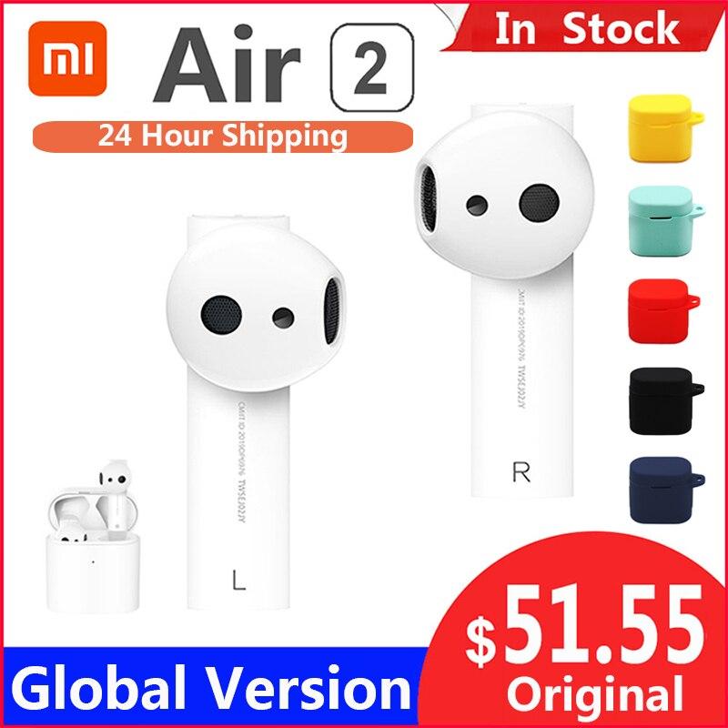 Original Xiaomi Air 2 TWS Airdots Pro 2 Mi Air 1 True Wireless Earphones ENC Bluetooth 5 Tap Control Voice Control LHDC Dynamic