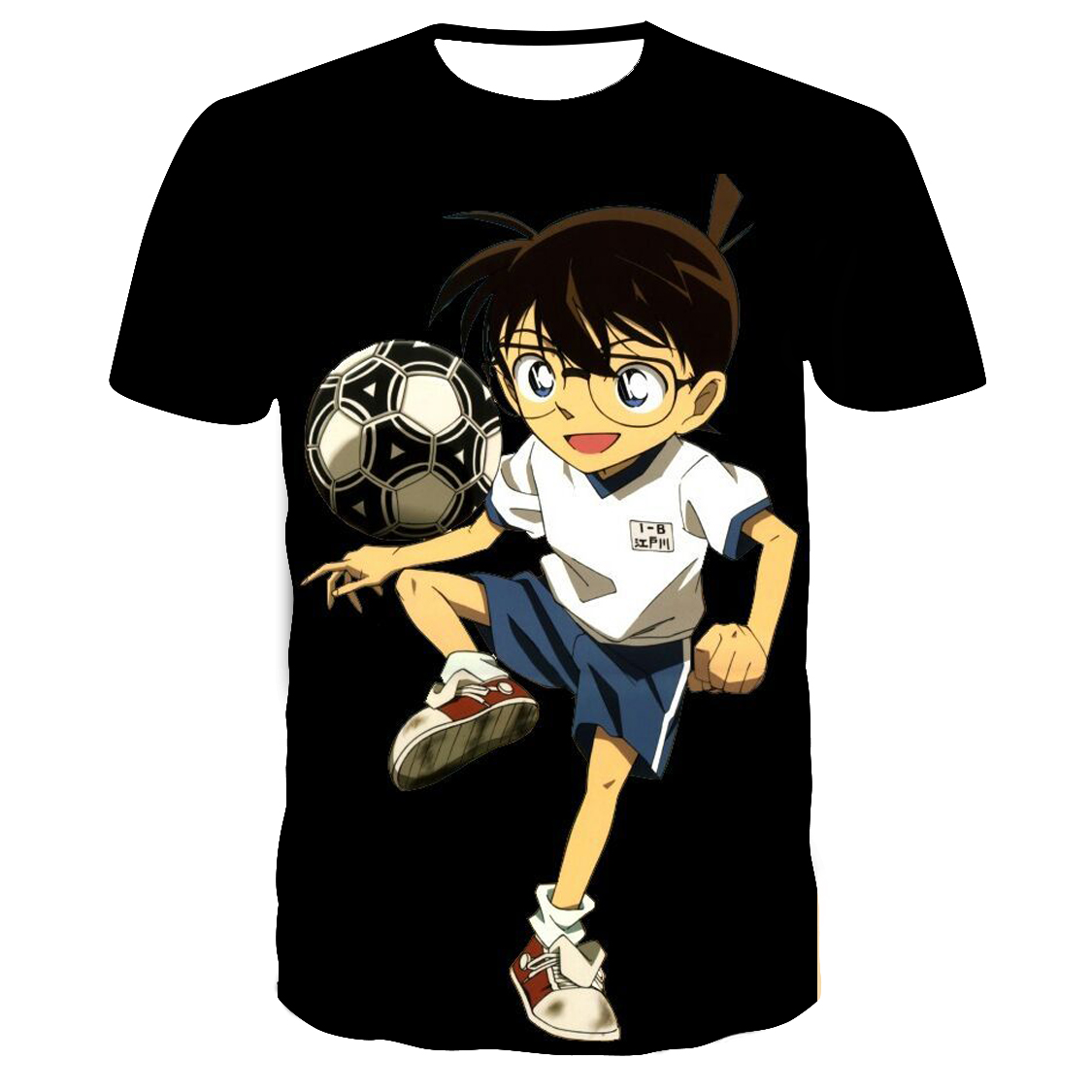 Summer new men's 3DT shirt, Japanese anime cartoon series, 3D digital printing, fashionable and cool casual T-shirt couple