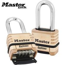 цена на Master Lock 1175DLH Brass Resettable Combination Padlock Outdoor Corrosion resistance Password Lock 4-digit Combination Padlocks