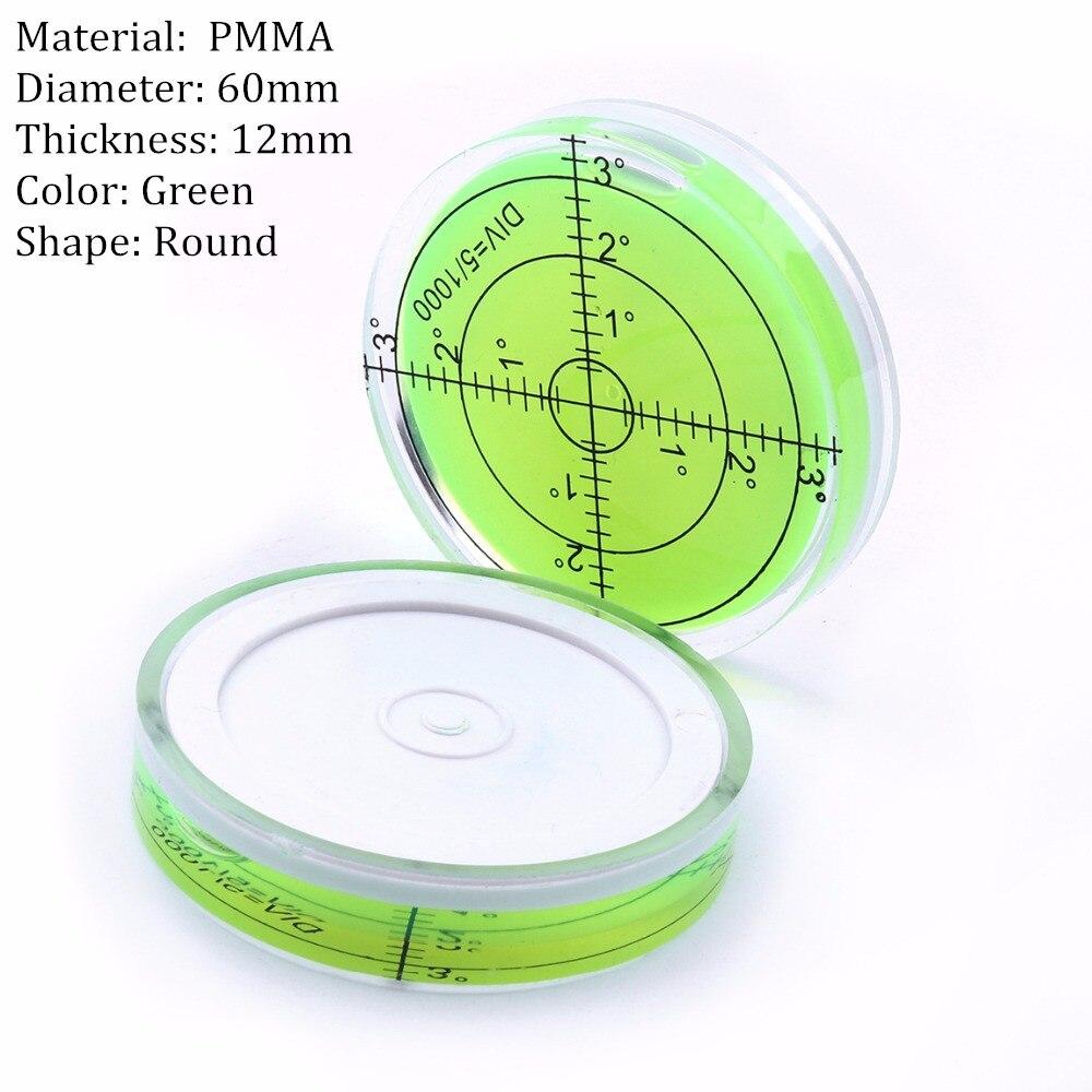 Univerzális zöld kör alakú buborék Bullseye vízszintes buborék - Mérőműszerek - Fénykép 2