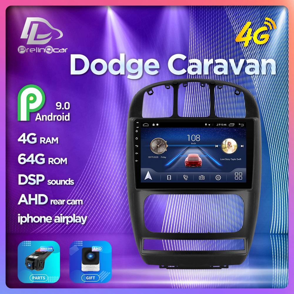 Prelingcar For Dodge Caravan Chrysler Pacifica 2010 11 7 Car Monitor Radio Multimedia Video Player Navigation Android 9.0 Stereo