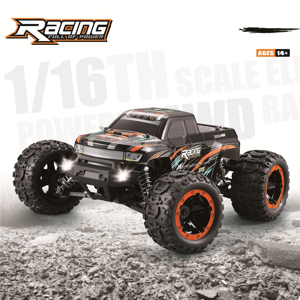 HBX 16889 1/16 2.4G 4WD 45km/h Brushless RC Car With LED Light Electric Off-Road Truck RTR Model VS 9125