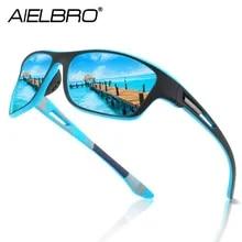 AIELBRO Cycling Sunglasses Polarized Cycling Goggle Men's Cycling 6 Colors Polarizing Glasses gafas ciclismo hombre