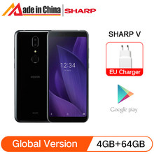 Смартфон глобальная версия Sharp AQUOS V с процессором Snapdragon 835, ОЗУ 4 Гб, ПЗУ 64 ГБ, FHD + экран 5,9 дюйма, двойная камера 13 МП, Android 9,0, 4G