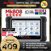 Autel MaxiCOM MK808 OBD2 Xe Công Cụ Chẩn Đoán OBD 2 Ô Tô Máy Quét IMMO EPB SAS BMS TPMS DPF Dịch Vụ PK MD802 maxiCheck Pro
