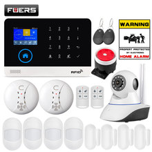 FUERS Upgrade PG103 WIFI GPRS SIM Home Security Alarm System APP Control Siren Smoke PIR Motion Sensor RFID DIY Set Free Sticker