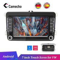 Camecho Car Android 8.1 2 Din radio GPS multimedia Autoradio for Volkswagen Skoda golf 5 passat B6 polo Golf 4 5 Touran Seat FM