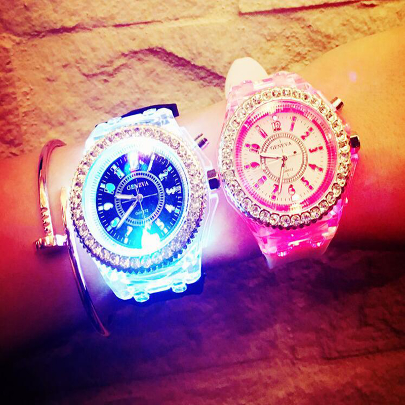Flash Luminous Watch Led Light Personality Trends Students Lovers Jellies Woman Men's Fashion Watches Light WristWatch Gift