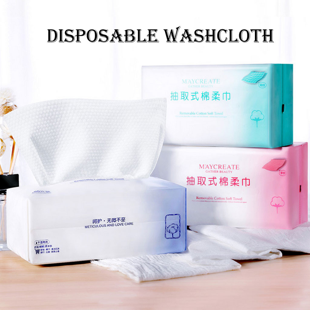 Travel Cotton Disposable Wash Towel Cleansing Beauty Washtowel Wet and Dry Towel