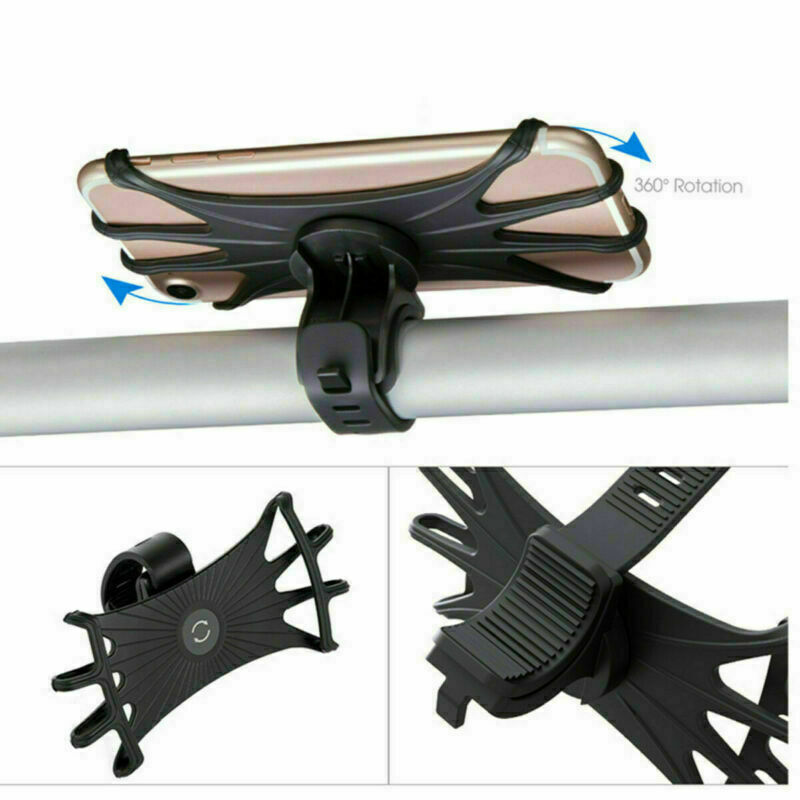 360° Universal About  Bicycle MTB Phone Holder Bracket Bike Handlebar Mount For All 4-6.3 Inch Samsung IPhone Cell Phone GPS