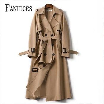 Windbreaker Spring Autumn Korean Casual Thin Trench Coat For Women Elegant Long Sashes плащ женский тренч abrigo mujer