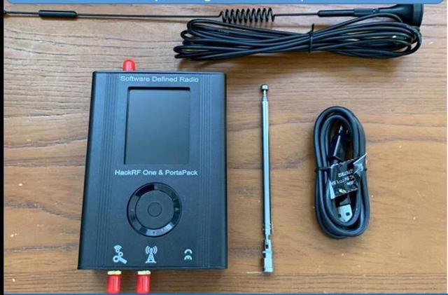 Mới Nhất Portapack Với Tàn Phá Miếng Lóe Lên + Hackrf Một SDR Phần Mềm Định Nghĩa Đài Phát Thanh + Kim Loại + 10M 0.5ppm txco + Cảm Ứng Màn Hình LCD