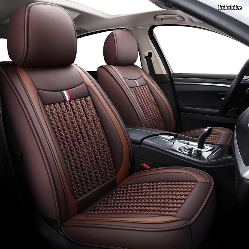 kokololee 1 PCS car seat covers For ford focus mk1 focus 2 3 mondeo mk4 fiesta mk7 figo ranger edge fusion 2015 kuga accessories