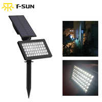 T-SUNRISE 50 LEDs al aire libre LED Solar Powered jardín luces IP44 impermeable césped lámpara paisaje focos