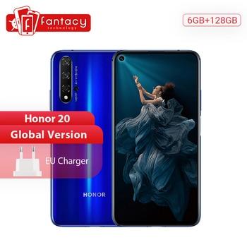 Перейти на Алиэкспресс и купить Глобальная версия Honor 20 смартфон 6G 128G Kirin 980 Восьмиядерный 48MP четыре камеры мобильный телефон 6,26 ''NFC Google Play Supercharge