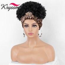 Короткий кудрявый афро парик kryssma синтетические парики для