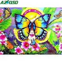 AZQSD 5D Diamond Painting Butterfly Cross Stitch Wall Art Embroidery Animal Rhinestones Full Display Gift Handmade