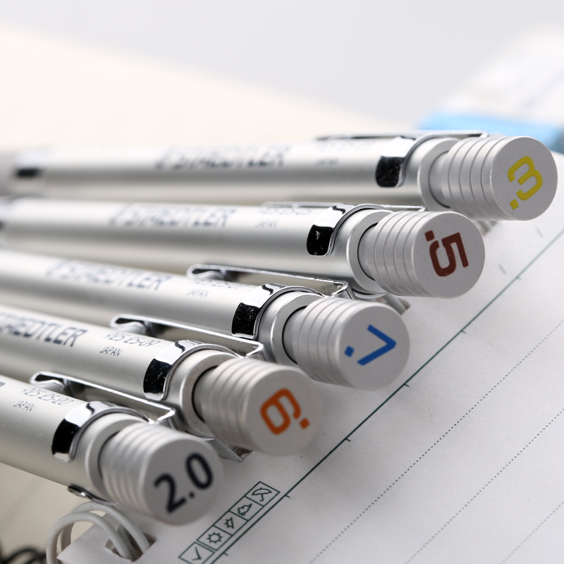 1Pc Staedtler Graphite Drafting Automatic Mechanical Pencil Silver Series 0.3 Or 0.5 Or 0.7or 0.9 Or 2.0 Mm (925 25-3/5/7/9/20)
