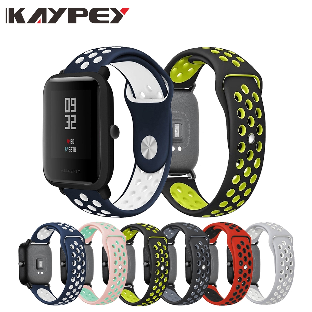 Silicone Band Replacement Strap For Huami Amazfit Bip BIT PACE Lite Youth 20mm Sport Wrist Watch Bands For Xiaomi Amazfit Bip