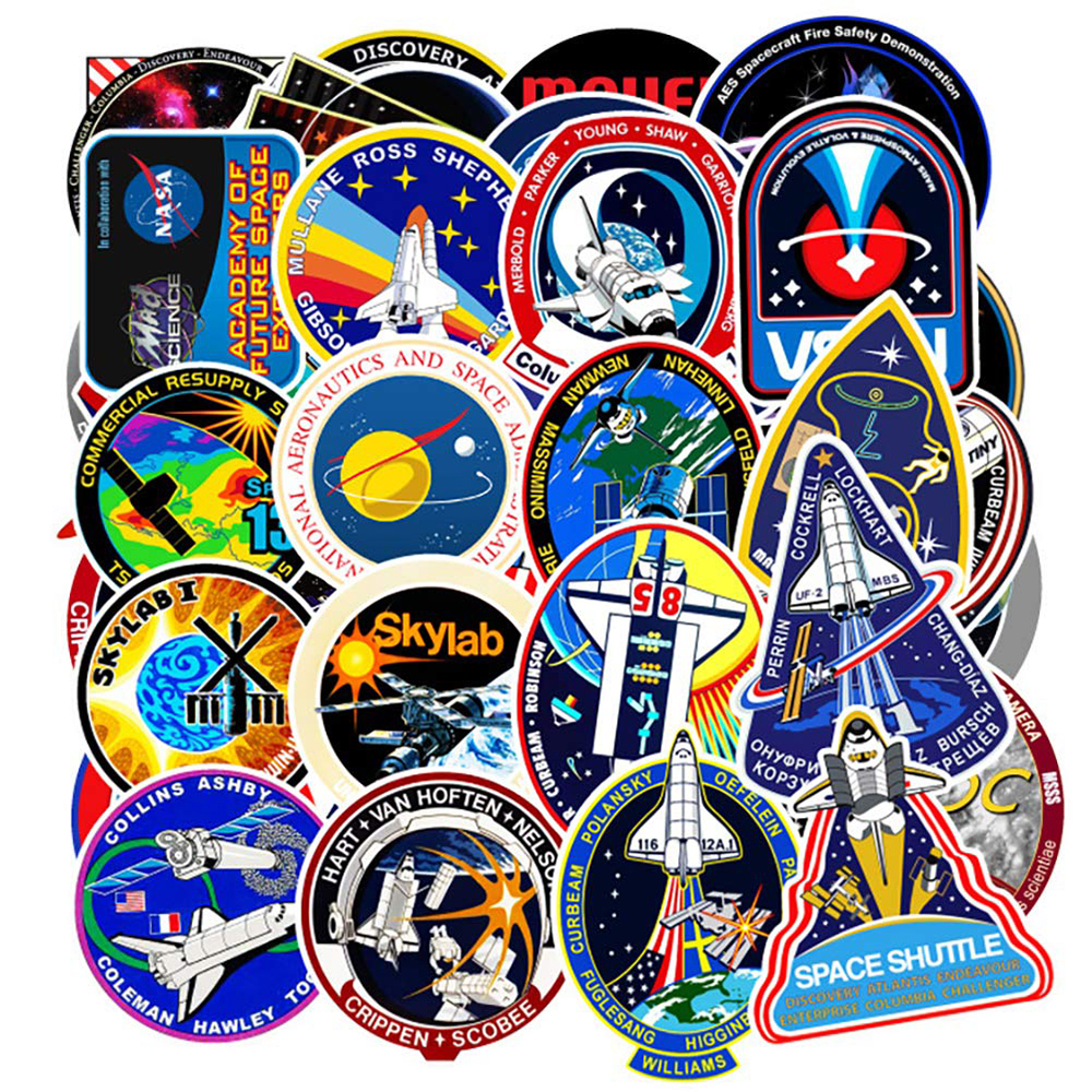 10/30/45PCS Outer Space Shuttle Graffiti Stickers DIY Car Bike Travel Luggage Phone Guitar Waterproof PVC Cool Stickers for Kid