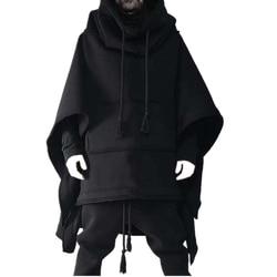 Плащ-накидка, Длинная толстовка с капюшоном «летучая мышь», осенне-зимнее шерстяное пальто, Мужская индивидуальная куртка, шерстяная шаль, ...