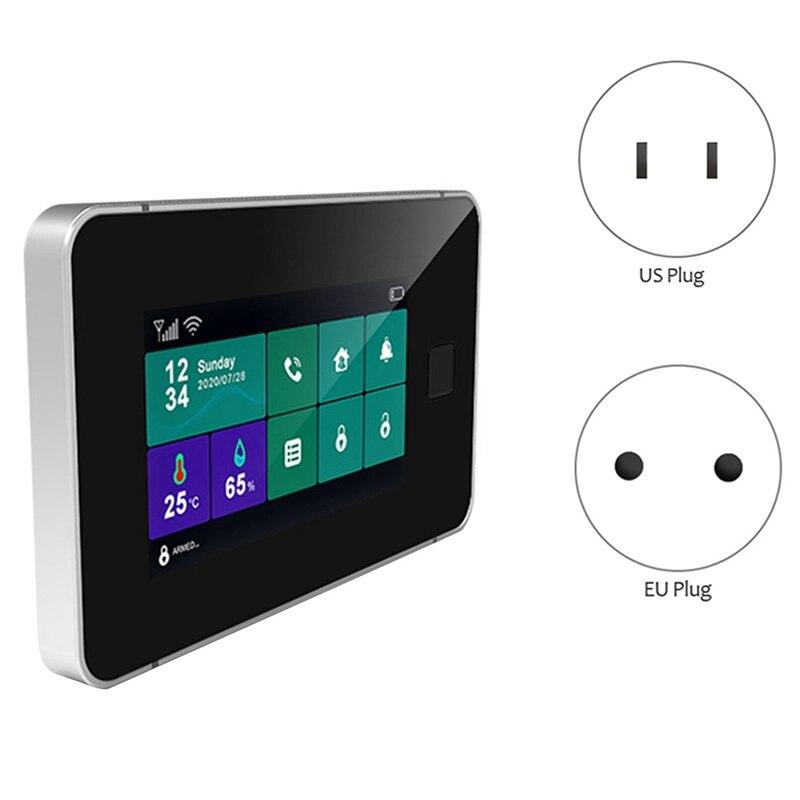 Tuya WiFi Gsm Security Alarm System Fingerprint Arming Temperature Wireless Smart Home Burglar Alarm