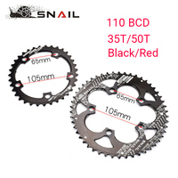 BDSNAIL 110BCD Chainring 50T/35T Road Bike Double Oval Chain Ring 7075 T6 Bicycle Chainwheel Disc Fit SHIMANO,SRAM,FSA,etc
