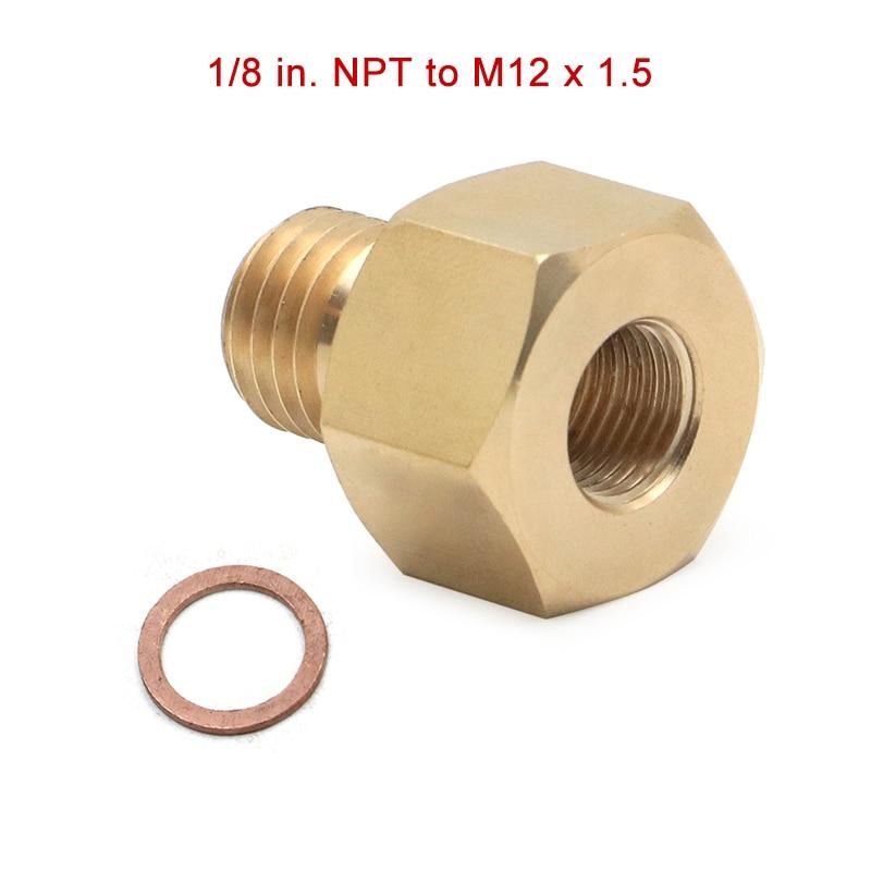 1/8 дюйма NPT Female M12 x 1,5 мужской метрический адаптер, электрические температурные датчики, латунная медная труба, фитинги|Гайки и болты|   | АлиЭкспресс