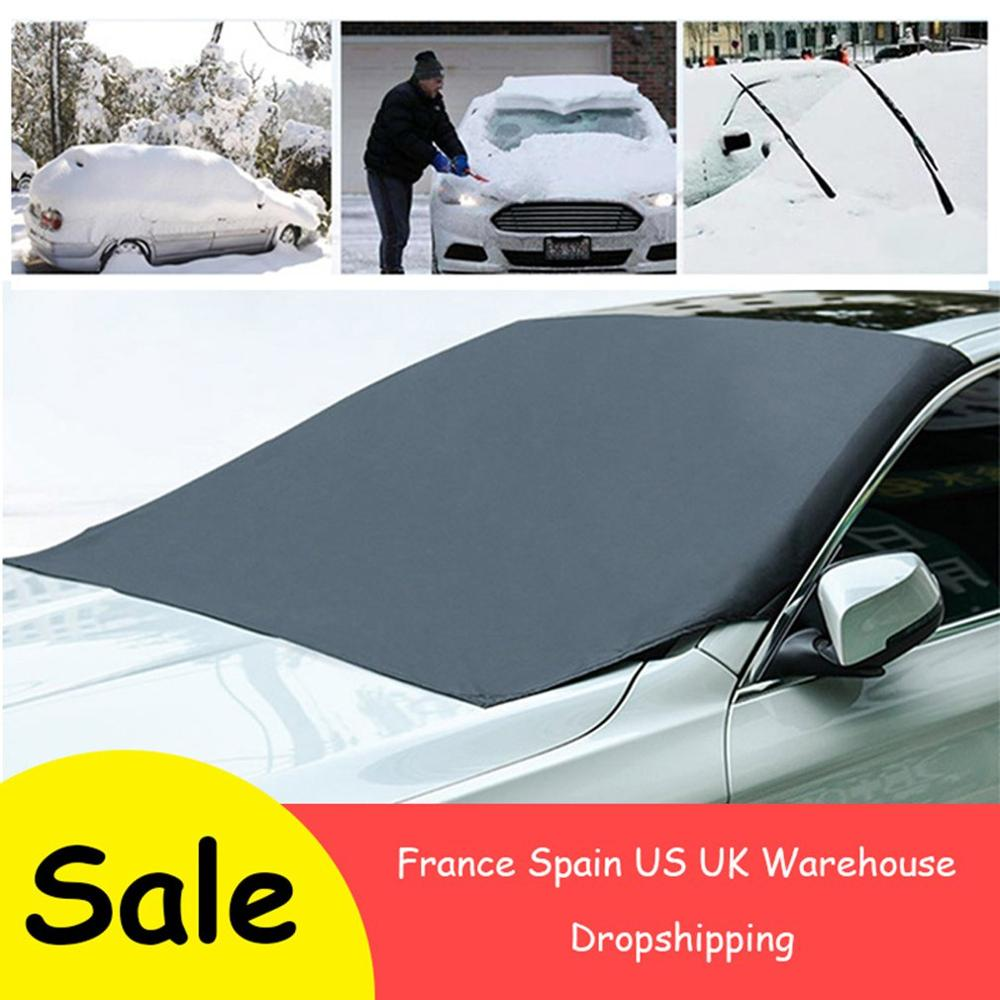 ด้านหน้ากระจกหน้ารถแม่เหล็ก Anti-Frost หิมะ Anti-Freeze ฝาครอบทั่วไป 210*120 ซม.ทนทานรถอุปกรณ์เสริม