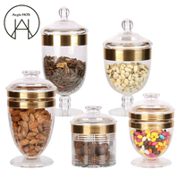 High gloss transparent Storage sealed Cans acrylic Candy jar durable moisture-proof snacks storage bottles with lid containers
