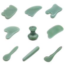 Natural Jade Guasha Stone Board Facial Eye Guasha Plate Jade Face Massager Scraper Tool For Face Neck Back Body Pressure Therapy