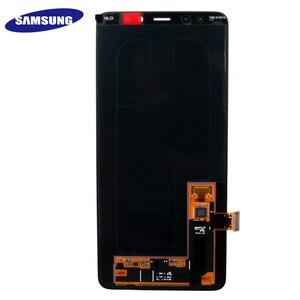 Image 4 - 100% מקורי AMOLED תצוגת LCD עבור סמסונג גלקסי A8 בתוספת 2018 A730 LCD תצוגת מסך מגע Digitizer החלפת יכול להתאים
