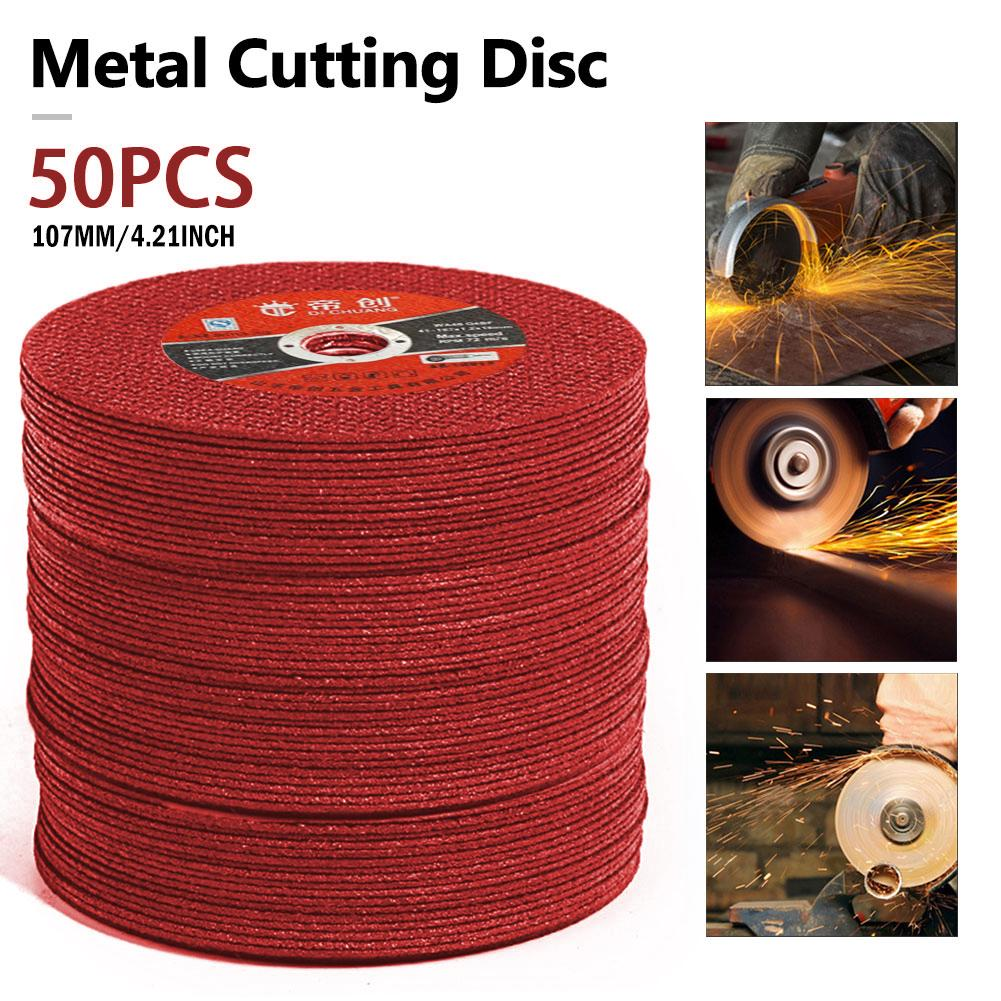 50PCS Metal Cutting Discs Saw Blade Resin Cutting Disc Cut Off Wheel Stainless Steel Angle Grinder Disc 107mm