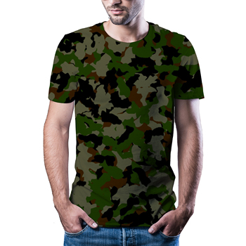 2020 new 3D t-shirt men's summer casual camouflage clothing style top quick dry printed T-shirt - discount item  44% OFF Tops & Tees