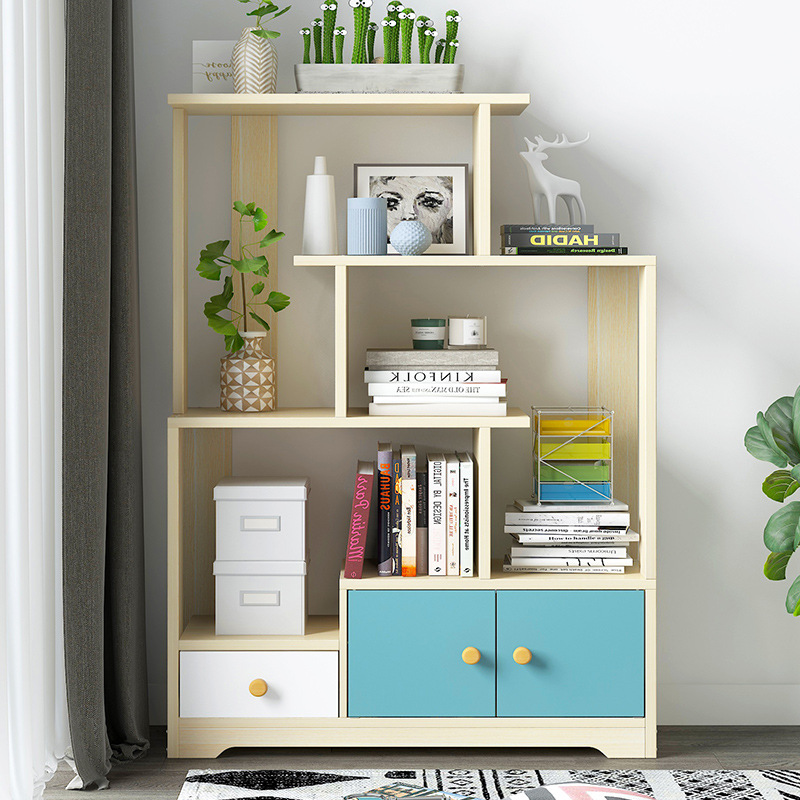 Bookcase With Doors Cabinet Simple Household Bedroom Simplicity Bookcase Multi-functional Living Room Floor Cabinet Storage Shel