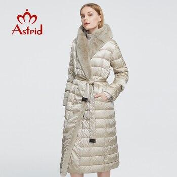 Astrid 2020 delle Nuove donne di Inverno cappotto lungo delle donne caldo parka Giacca con cappuccio di pelliccia Del Coniglio di grandi dimensioni abbigliamento femminile disegno ZR-7518 1