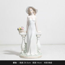 Creative Home Living Room Ballet Woman Figure Model Cabinet Decor Toys Nordic Modern Art Ceramic Accessories Gift