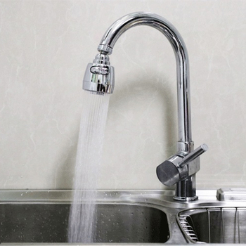 360 Rotatable Bent Water Saving Tap Aerator Diffuser Faucet Nozzle Filter Water Filter Swivel Head Kitchen Faucet Bubbler 2