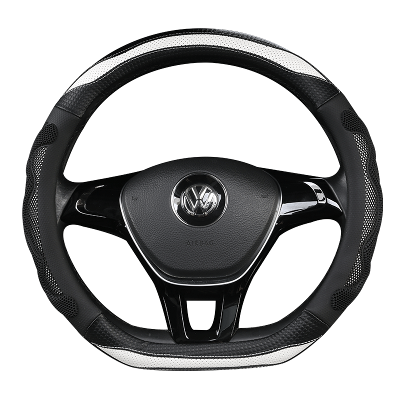Автомобильный кожаный чехол на руль из углеродного волокна для Volvo S60 V40 V60 V70 2014 XC60 
