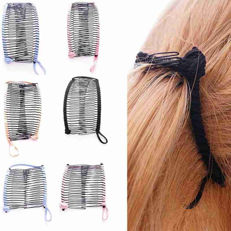 1pc Vintage Banana Hair Clip Women Lazy Hair Comb Vintage Stretchable Hair Accessories New Arrival Christmas Hair Accessory