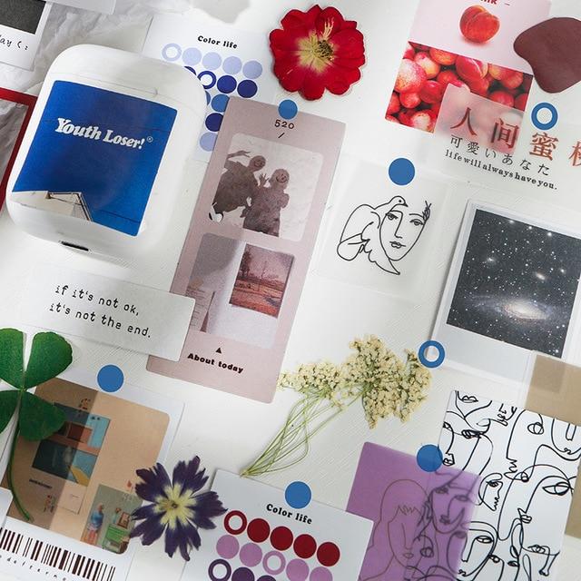 34 feuille/ensemble fleur autocollant ensemble bricolage mignon INS autocollants Scrapbooking école fournisseurs papeterie présenté par Kevin & sasa artisanat