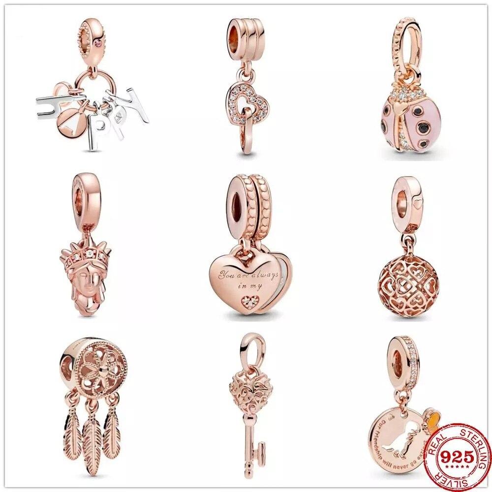Подходит к оригиналу Pandora, браслет с шармами 925 пробы серебра вы всегда в моем сердце Разделение очарование бисера DIY изготовления ювелирных ...