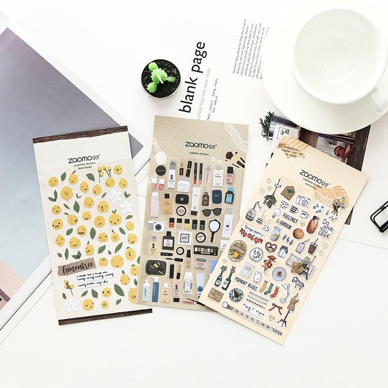 Mohamm Cute Diary Korean Calendar Decorative Stickers Scrapbooking Japanese Stationery School Supplies